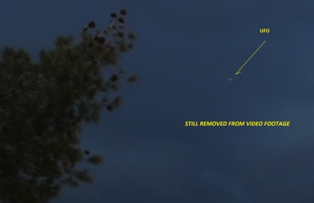 Still removed from video footage of ufo.